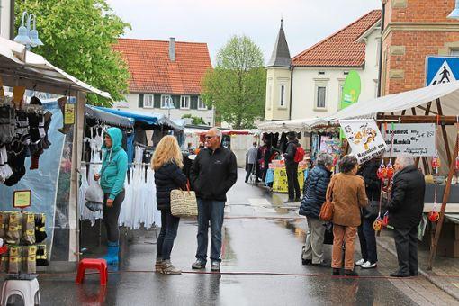 Die Besucher kamen eher am Nachmittag zum  Frühjahrsmarkt in Ergenzingen.  Foto: Ranft Foto: Schwarzwälder Bote