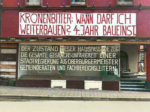 Ein neuer Spruch ziert das Sebastian-Lotzer-Haus in Horb.   Foto: Lück
