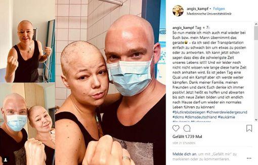 Auf Bildern ist die Powerfrau gemeinsam mit ihrem Mann zu sehen, wie die beiden die Fäuste ballen. Foto: Screenshot Instagram