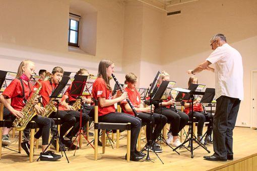 Die Blaskapelle der Realschule hatte beim Musikabend ihren großen Auftritt.  Foto: Baum Foto: Schwarzwälder Bote