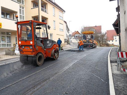Die Gartenstraße in Gechingen war über Monate hinweg eine Großbaustelle.   Foto: Archiv Foto: Schwarzwälder Bote